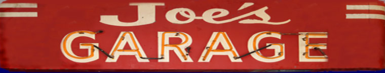 The Original Joe's Garage Sign